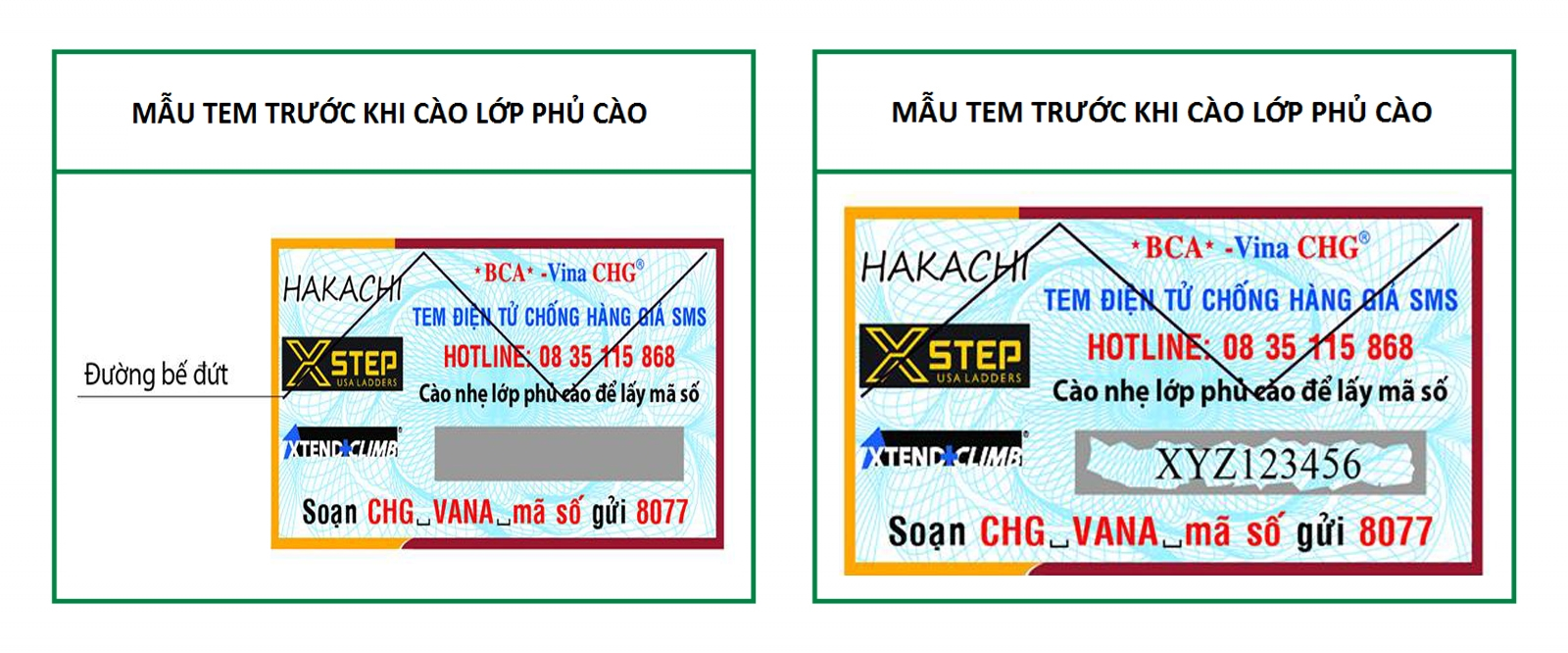 Cách kiểm tra thang nhôm Hakachi, Xstep, Xstend Climb chính hãng Vạn Nam