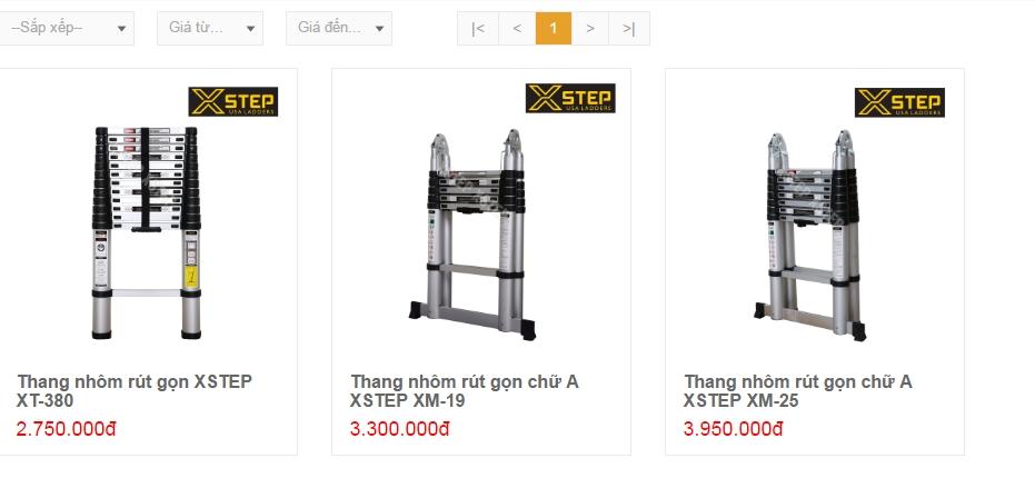 Thang nhôm Xstep giá bao nhiêu tiền?