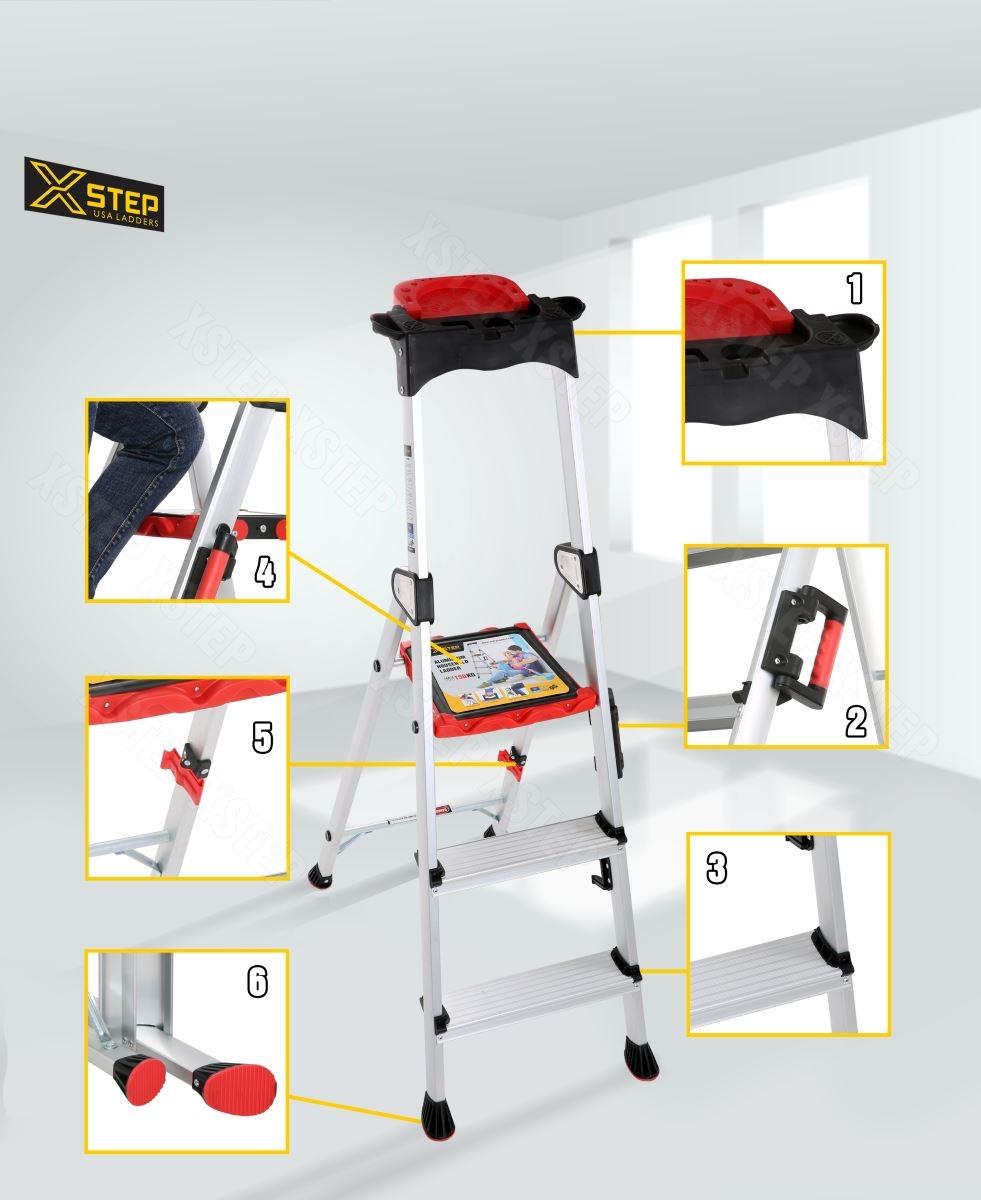 Có nên mua thang nhôm ghế XSTEP XL-03 với giá 1,4 triệu cho gia đình ?
