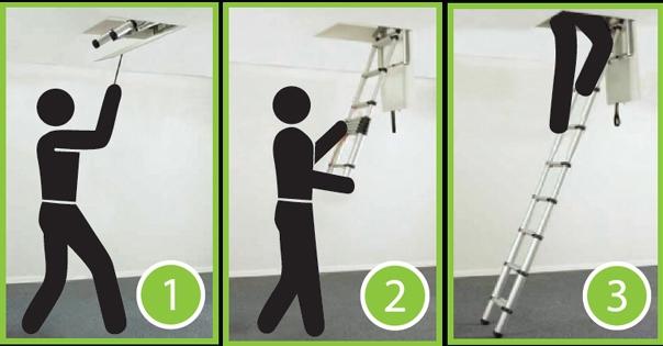 Hướng dẫn sử dụng thang nhôm rút xếp đơn giản, an toàn