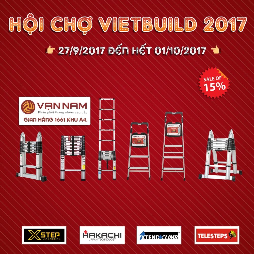 Mua thang nhôm Hakachi Nhật giá rẻ tại hội chợ Vietbuild TPHCM 2017