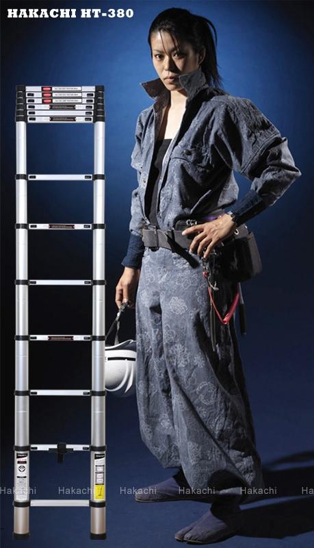 Phát mê với thang nhôm rút xếp Hakachi giá rẻ chỉ hơn 2 triệu đồng