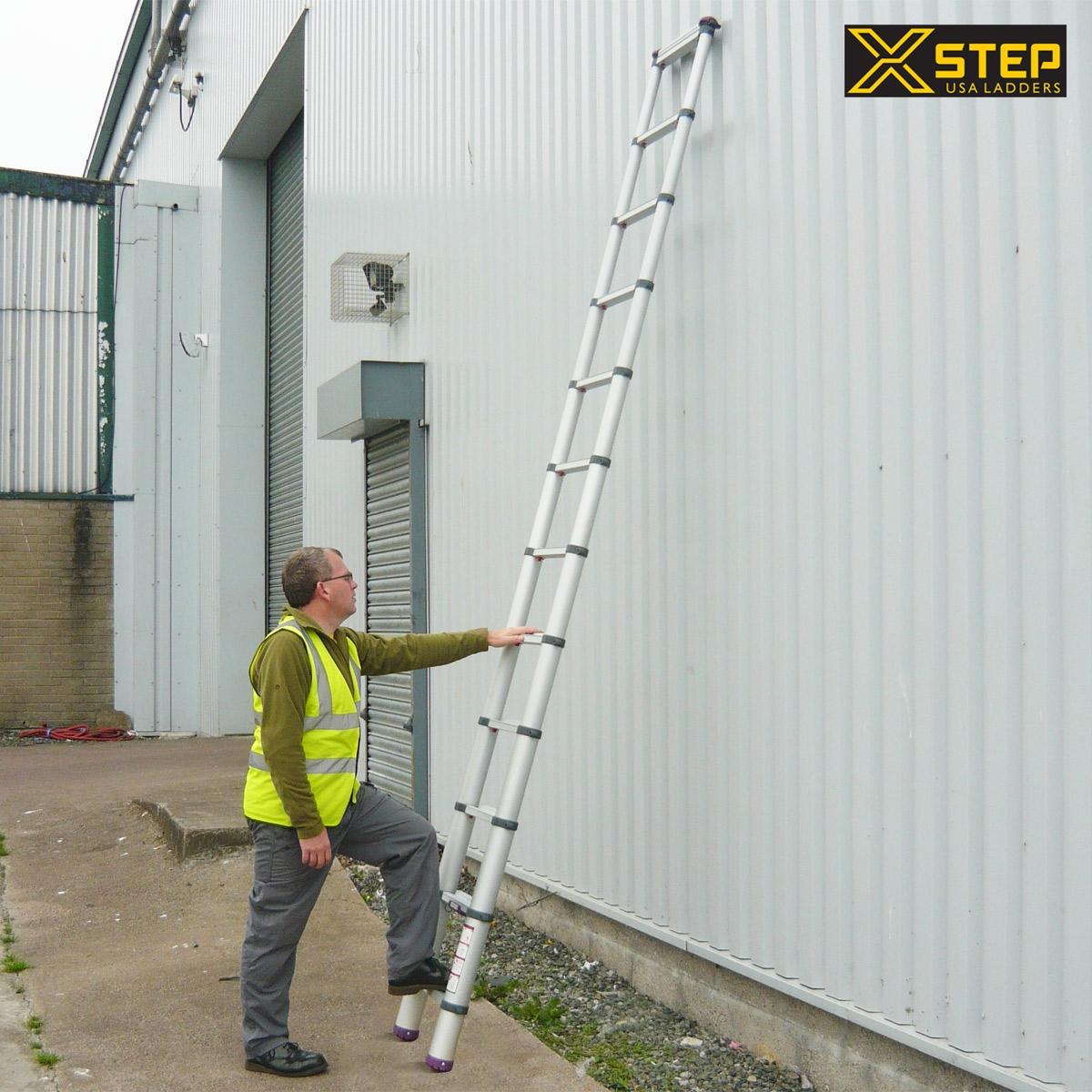 Sử dụng thang nhôm rút đơn Xstep đúng cách khi mới dùng lần đầu