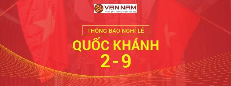 Thang nhôm Vạn Nam thông báo nghỉ lễ 2.9.2019