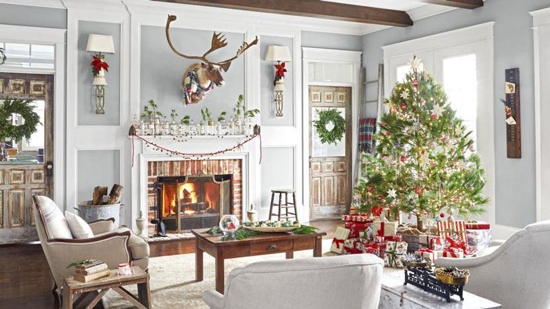Trang trí nhà cửa mùa Noel cùng thang nhôm ghế Hakachi